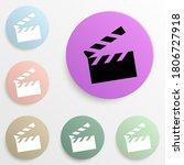 movie cracker badge color set....