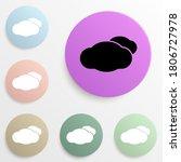 clouds badge color set. simple...