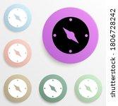 compass badge color set. simple ...