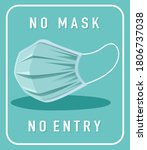 no mask no entry warning sign...   Shutterstock .eps vector #1806737038