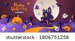 happy halloween party... | Shutterstock .eps vector #1806751258