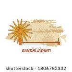 lllustration of gandhi jayanti  ... | Shutterstock .eps vector #1806782332