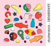 candy swedish pick and mix bulk ...   Shutterstock .eps vector #1806800695