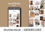 social media puzzle template... | Shutterstock .eps vector #1806801385