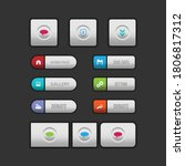 colorful web design button...