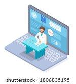 isometric illustration of...   Shutterstock .eps vector #1806835195