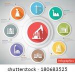 industrial concept infographics ... | Shutterstock .eps vector #180683525