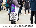 trafalgar square  london... | Shutterstock . vector #1806855202