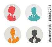 people icon. vector... | Shutterstock .eps vector #180687248