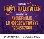 halloween font. typography... | Shutterstock .eps vector #1806875422