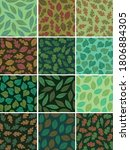 set of autumn themed seamless... | Shutterstock .eps vector #1806884305