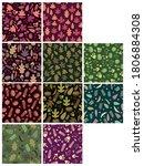 set of autumn themed seamless... | Shutterstock .eps vector #1806884308