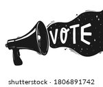 hand lettering quote 'vote'... | Shutterstock .eps vector #1806891742