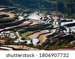 Rice Terrace And Farmer Houses...
