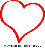 the red heart is a symbol of... | Shutterstock .eps vector #1806915232