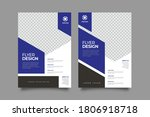 flyer template. brochure for... | Shutterstock .eps vector #1806918718