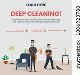 deep cleaning vector template... | Shutterstock .eps vector #1806923788