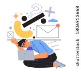 tired and exhausted employee... | Shutterstock .eps vector #1806953668