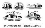 farm emblem on white background ...   Shutterstock .eps vector #1806963988