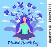 world mental health day poster... | Shutterstock .eps vector #1806965395