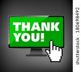 thank you words display on high ... | Shutterstock .eps vector #180698492