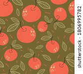Apples. Seamless Pattern On A...