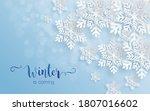 snowflakes design for winter...   Shutterstock .eps vector #1807016602