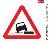 soft verges traffic sign....   Shutterstock .eps vector #1807017442