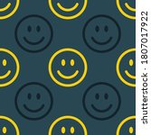 seamless pattern with smiling... | Shutterstock .eps vector #1807017922