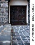 Antique Door Stony Wrought Iron