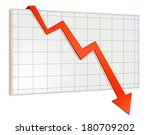 screen arrow graph down | Shutterstock .eps vector #180709202