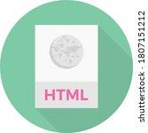 html file vector flat color...   Shutterstock .eps vector #1807151212
