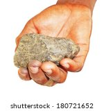 Small photo of Africa,A piece of Coltan ore in Congolese hand ,conflicting mineral is widely used in the most modern technology