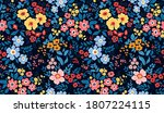 vintage floral background.... | Shutterstock .eps vector #1807224115