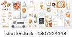 realistic fast food mockup set  ... | Shutterstock .eps vector #1807224148