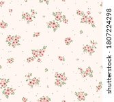 floral pattern. pretty flowers... | Shutterstock .eps vector #1807224298