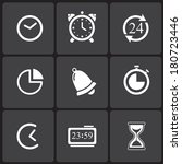 time icons   simbols. abstract... | Shutterstock .eps vector #180723446