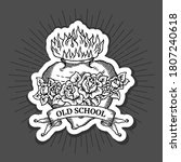old school tattoo logo set with ... | Shutterstock .eps vector #1807240618