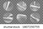 transparent round adhesive... | Shutterstock .eps vector #1807250755