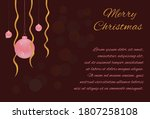 Christmas Card With Pink Balls...