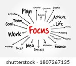 focus mind map  business...   Shutterstock .eps vector #1807267135