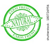 stamp with word natural inside... | Shutterstock .eps vector #180726956