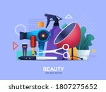 beauty industry flat concept... | Shutterstock .eps vector #1807275652