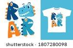 roar dinosaur typography... | Shutterstock .eps vector #1807280098