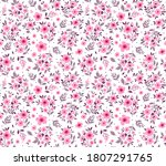 vintage floral background.... | Shutterstock .eps vector #1807291765