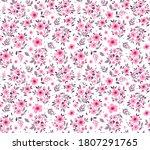 vintage floral background.... | Shutterstock .eps vector #1807291765