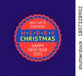 merry christmas and happy new... | Shutterstock .eps vector #1807328902