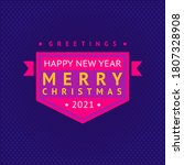 merry christmas and happy new... | Shutterstock .eps vector #1807328908