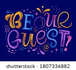 be our guest vector...   Shutterstock .eps vector #1807336882