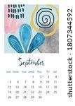 calendar 2021 september.... | Shutterstock .eps vector #1807344592